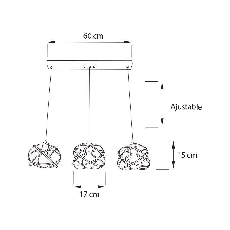 Lampara-Madona-mini-riel-Colgante-3L-medida