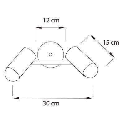 Lampara-Porto-Spot-PL2-Medidas