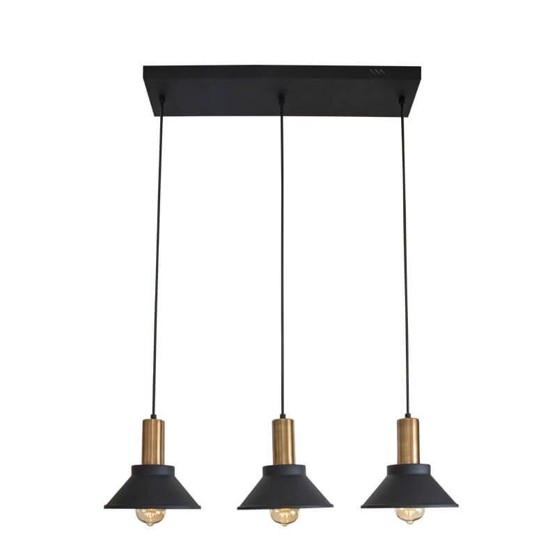 Lámpara Galicia Riel Colgante 3L